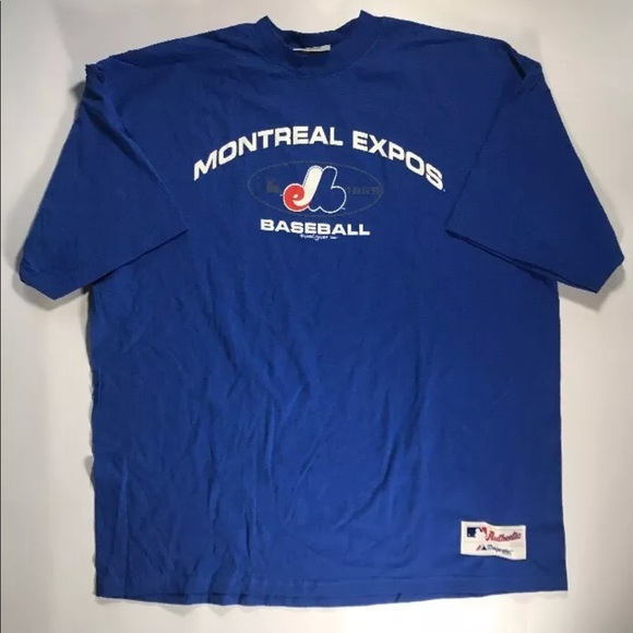 Vintage Montreal Expos 2000 Blue Majestic T-shirt f772780e3